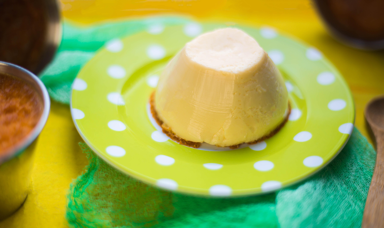 крем карамел без захар със стевия