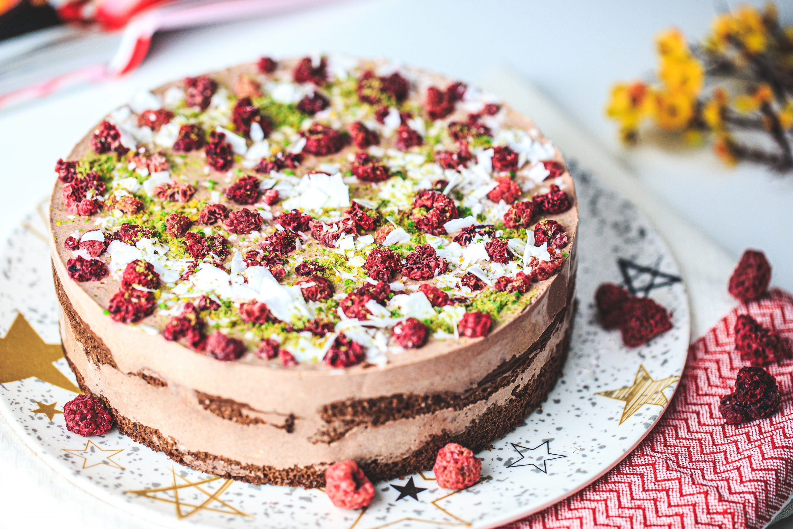 Кето шоколадова торта с еритритол
