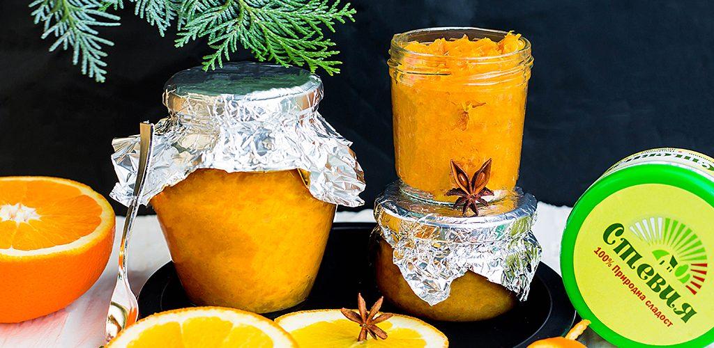сладко от портокали без захар със стевия